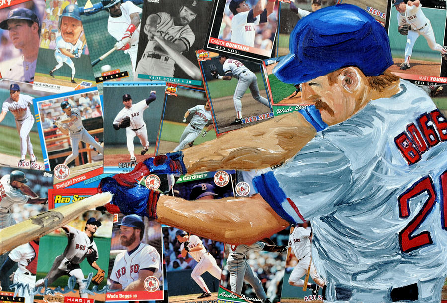 Major Leaue Baseball Painting - Wade Boggs by Michael Lee
