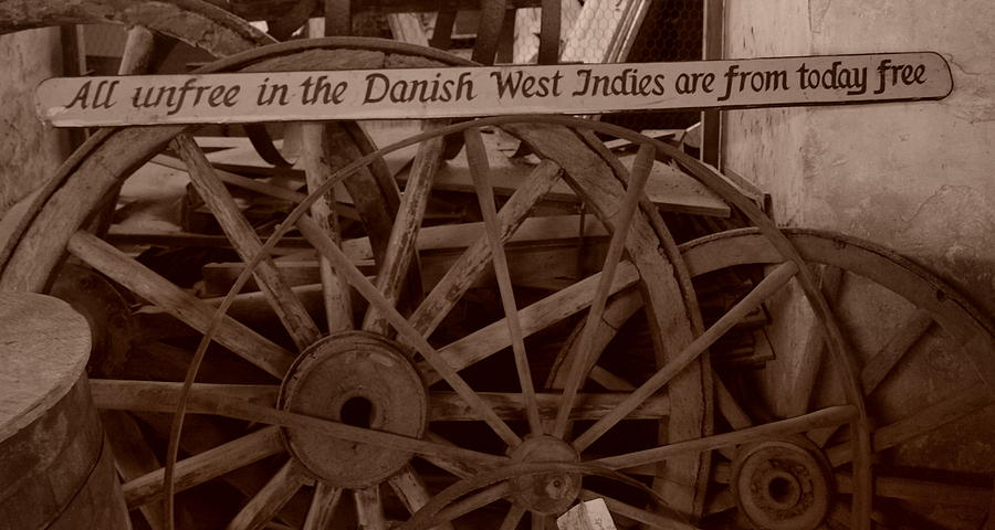 Wagon Wheel Photograph - Wagon Wheels Of St. Croix by Dennis Stein