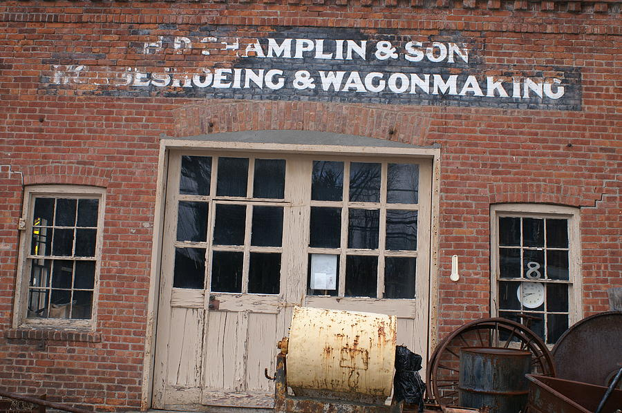 Building Photograph - Wagonmaking by Margaret Steinmeyer