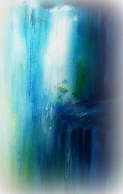 Blue Painting - Waiilikahi Falls  by Wendy Wiese