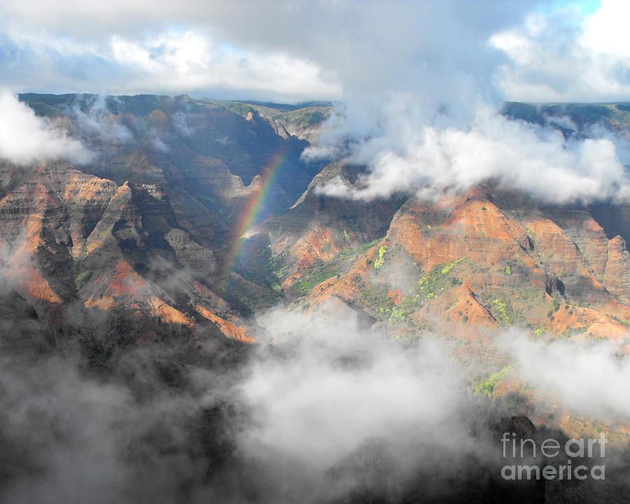 Waimea Photograph - Waimea Canyon Rainbow by Rebecca Margraf