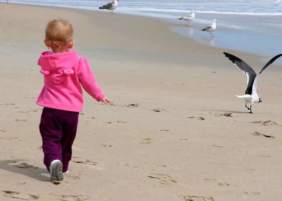 Beach Life Photograph - Wait For Me by Paula Tohline Calhoun