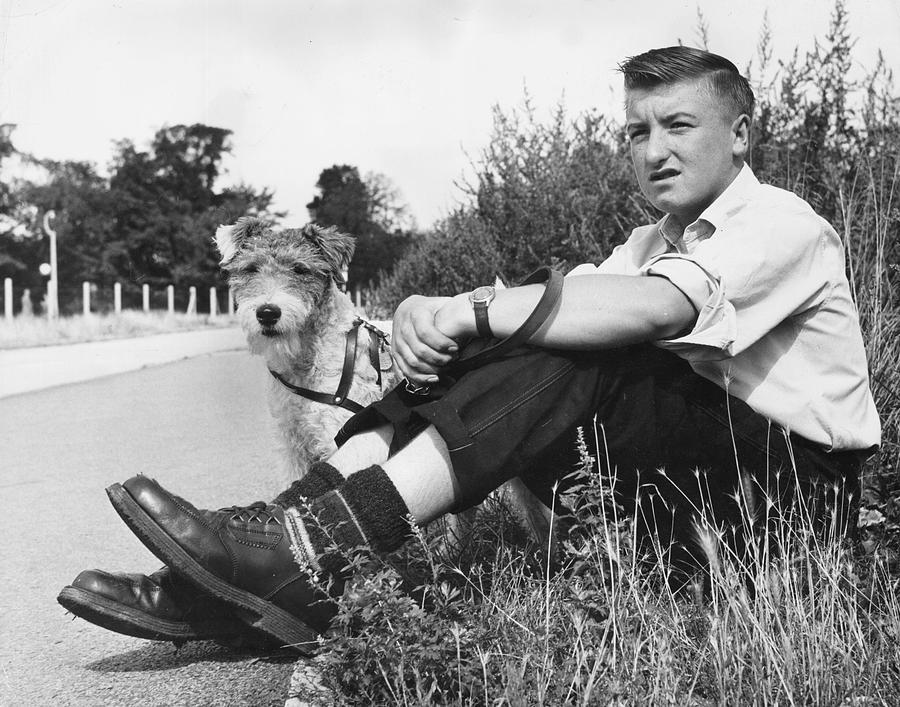 Teenager Photograph - Wait With Dog by John Drysdale