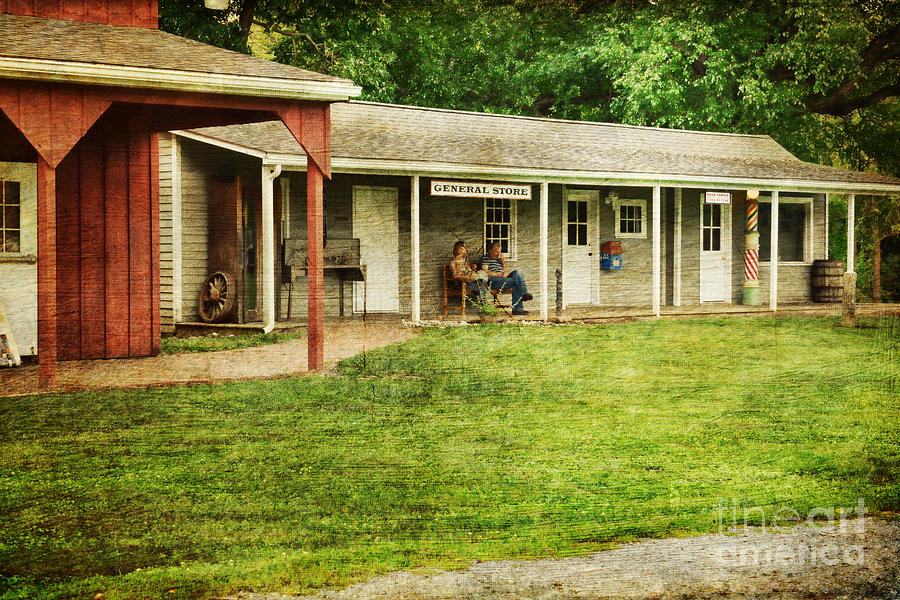 Waiting By The General Store Photograph - Waiting By The General Store by Paul Ward