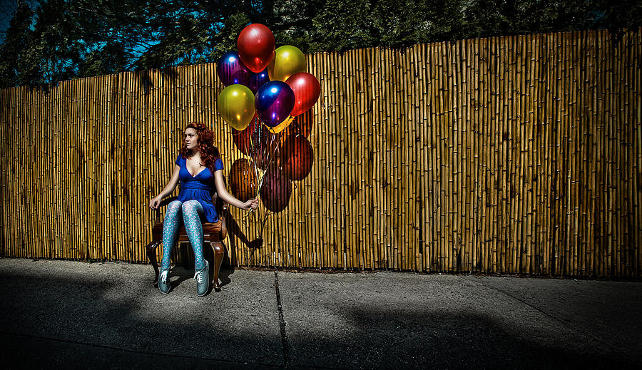 Balloons Photograph - Waiting For by Artur Gataulin