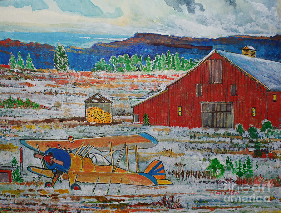 Aviation Painting - Waiting For Better Weather by Donald McGibbon