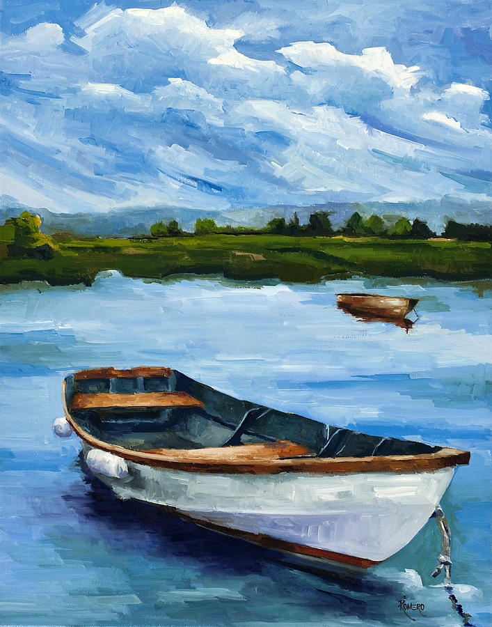 Seascape Painting - Waiting For Fish by Jose Romero