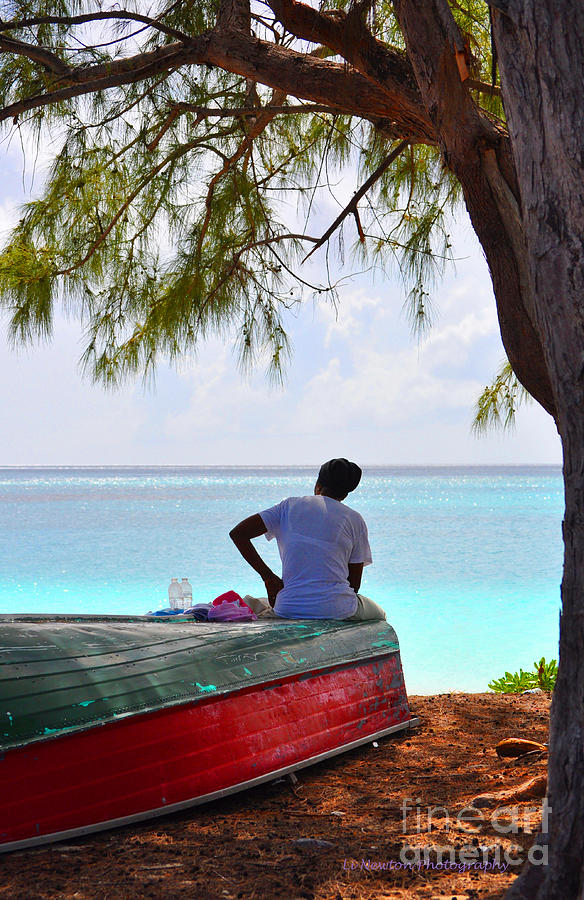 Life Photograph - Waiting For Her Ship To Come In by Li Newton