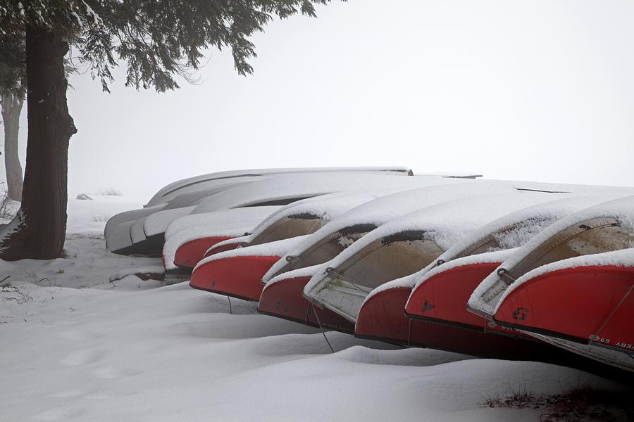 Canoe Photograph - Waiting For Spring by John Stephens