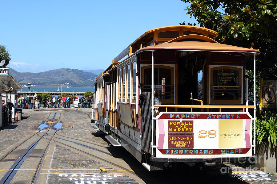 San Francisco Photograph - Waiting For The Cablecar At Fishermans Wharf . San Francisco California . 7d14099 by Wingsdomain Art and Photography
