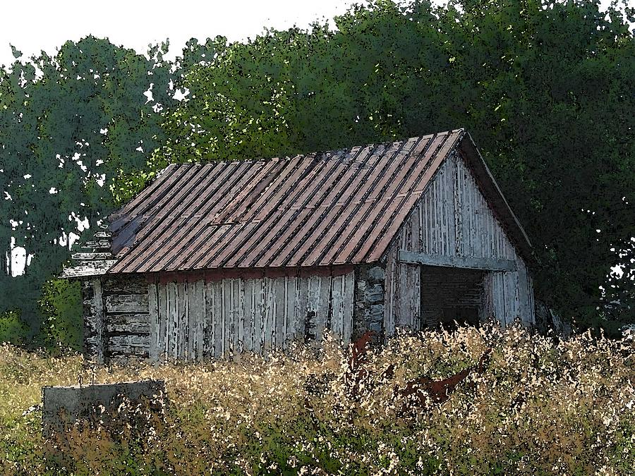 Shed Photograph - Waiting For The Harvest by Jerry Hellinga