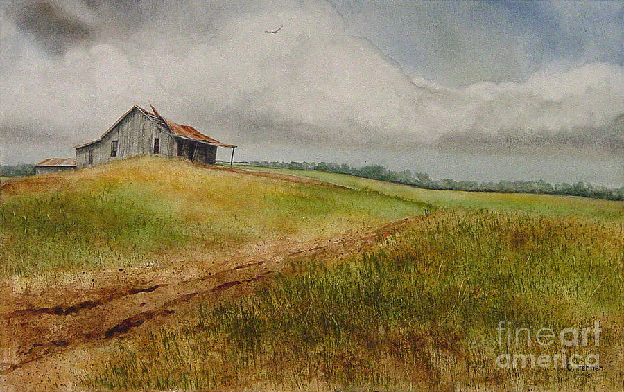 Country Painting - Waiting For The Summers Rain by Charles Fennen