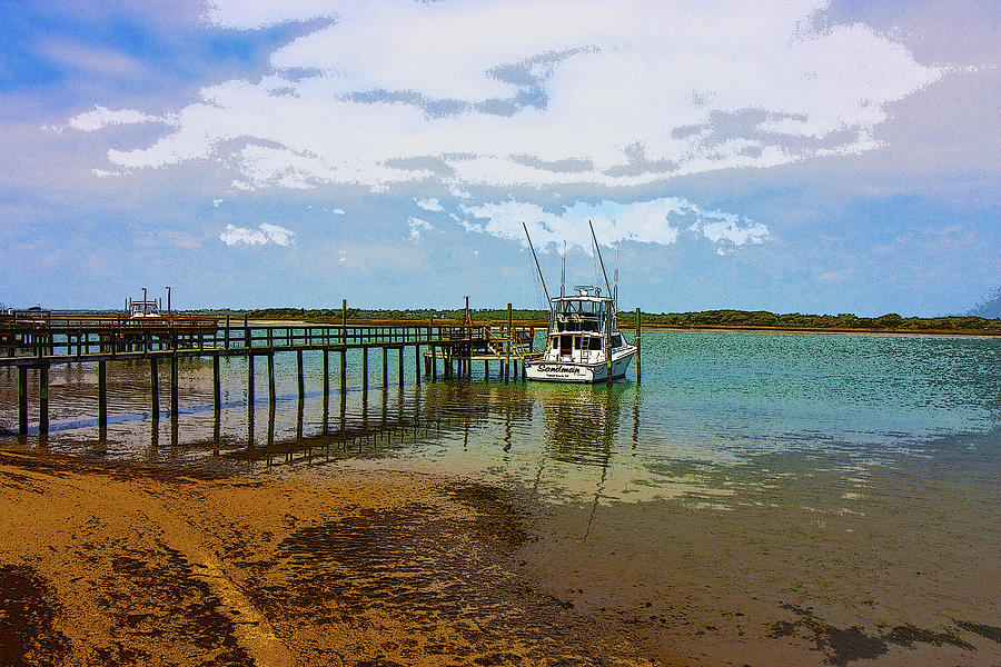 Boat Digital Art - Waiting For You by Betsy Knapp