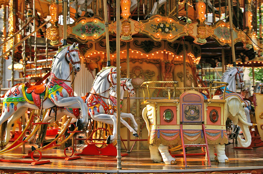 Merry Go Round Photograph - Waiting For You by Christine Burdine