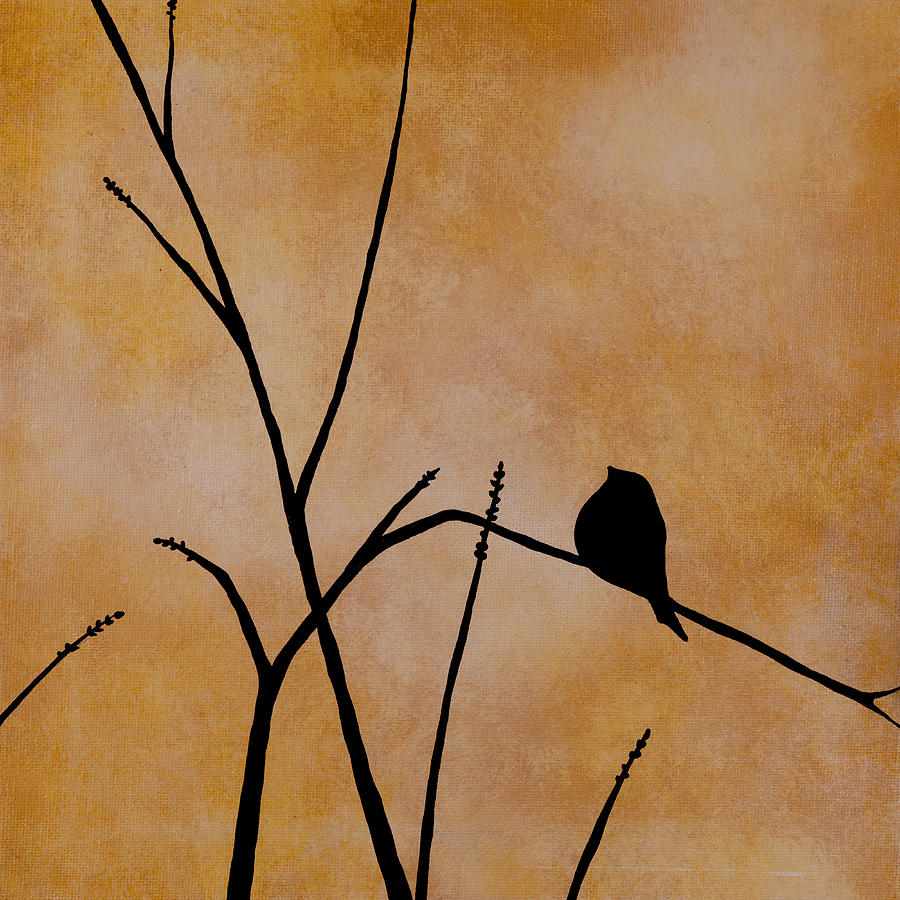 Bird Painting - Waiting For You by Jodi Leigh