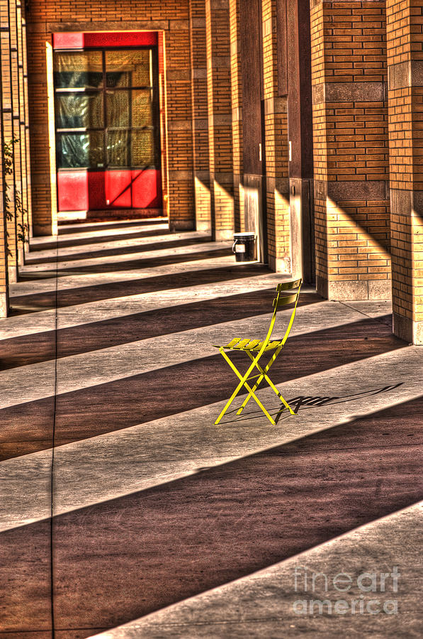 Chair Photograph - Waiting In Between by Anca Jugarean