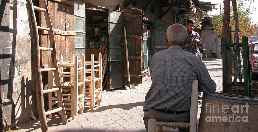 Damascus Photograph - Waiting In Damascus by Issam Hajjar