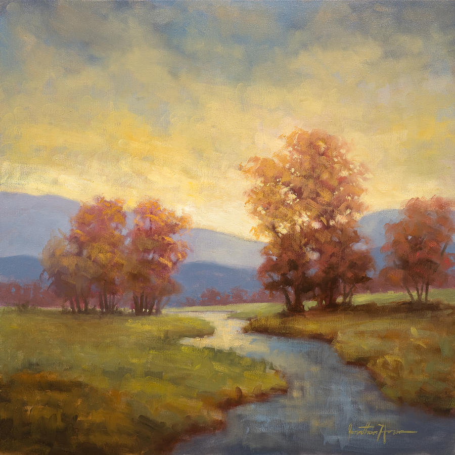 Landscape Painting - Waiting by Jonathan Howe