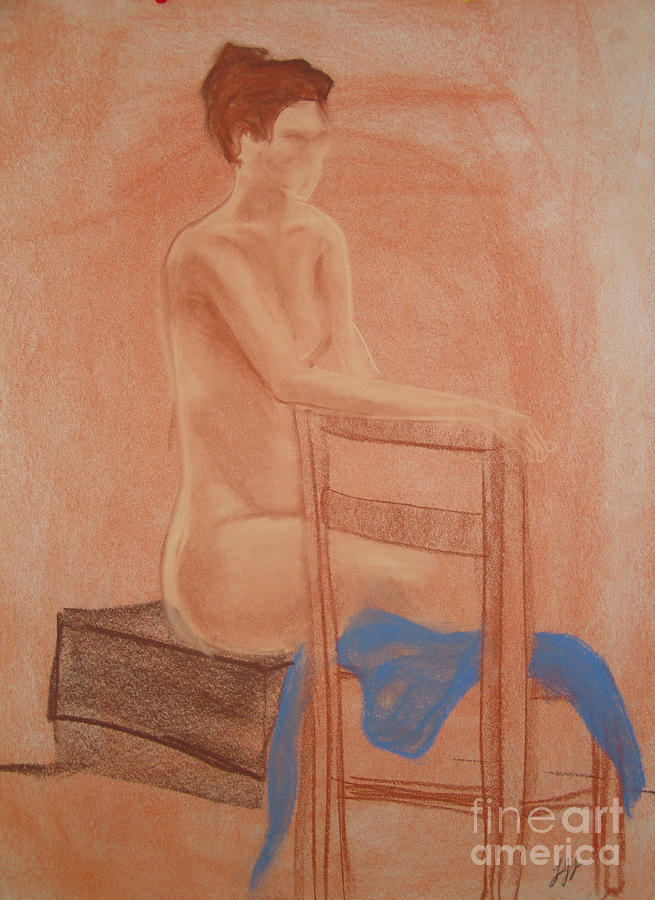 Impressionism Drawing - Waiting Naturally by Lj Lambert