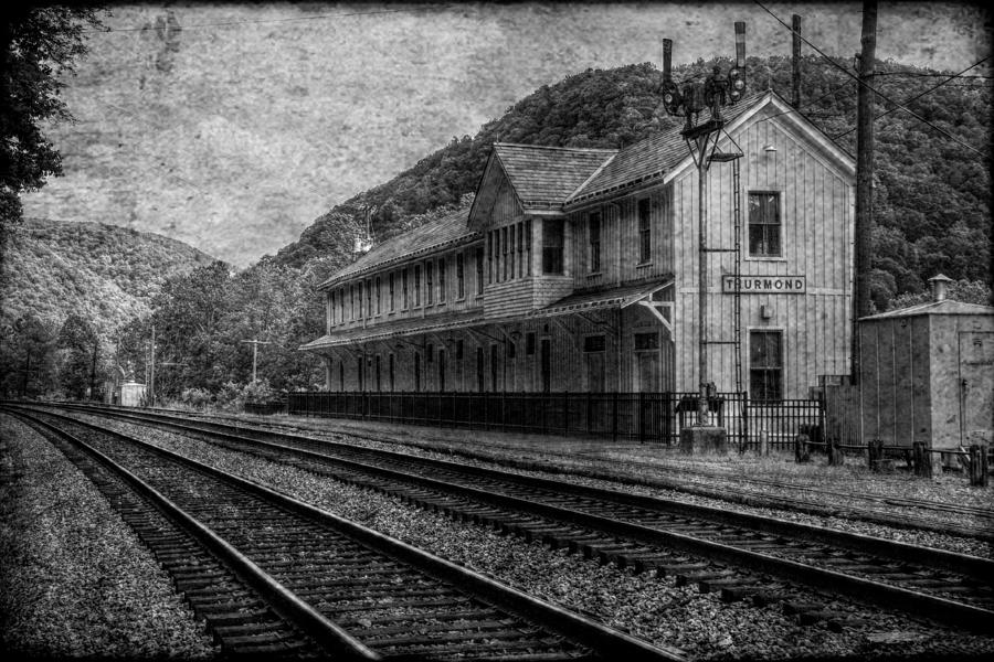 Depot Photograph - Waiting On The Ghost Train by Christine Annas