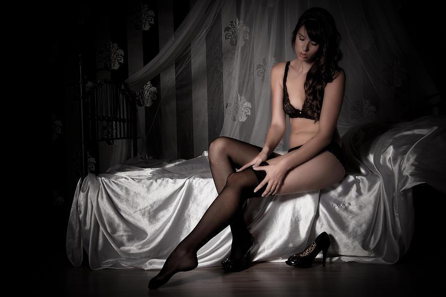Erotic Photograph - Waiting by Ralf Kaiser