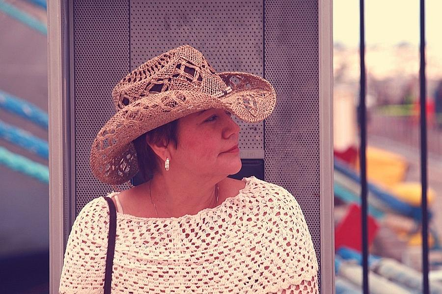 Cowgirl Photograph - Waiting by Ron Morales