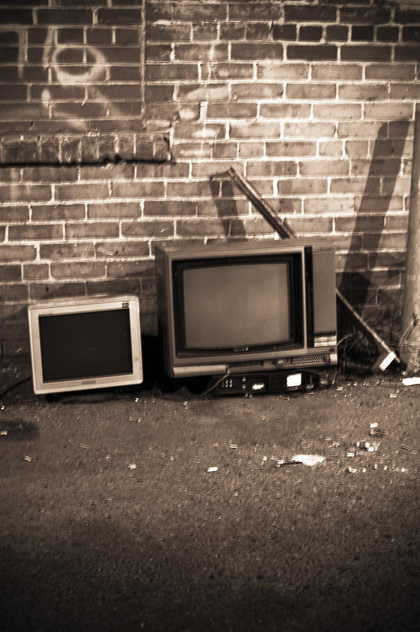 Tv Photograph - Waiting To Be Recycled by Marina Garrison