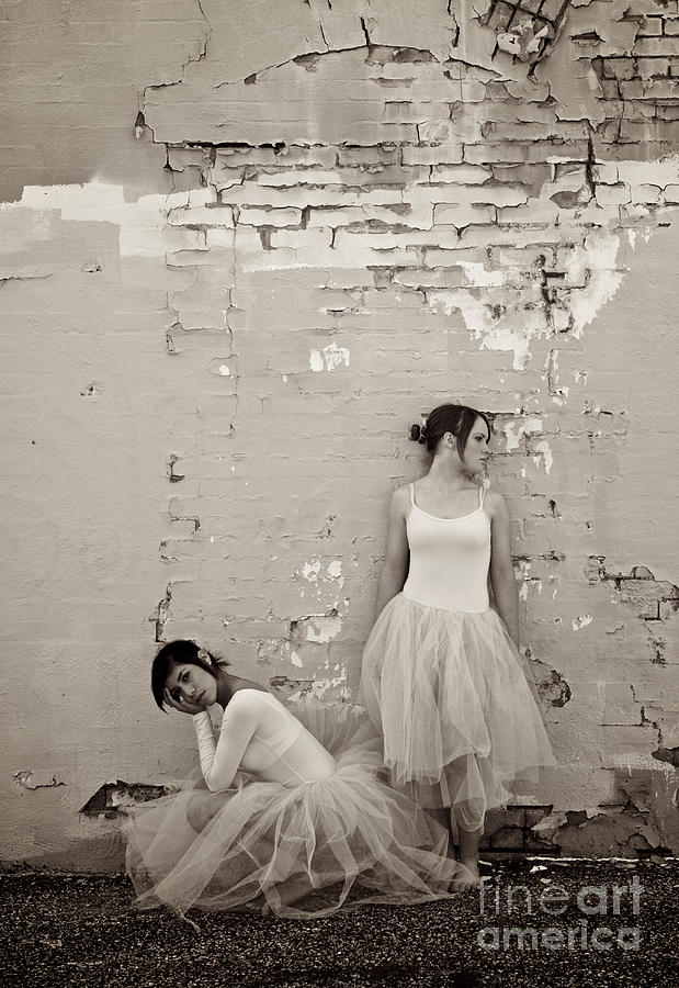 Dancers Photograph - Waiting Together by Sherry Davis