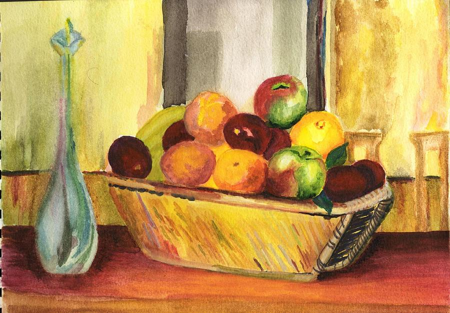 Still Life Painting   Walaa Dinner Table By Selma Suliaman