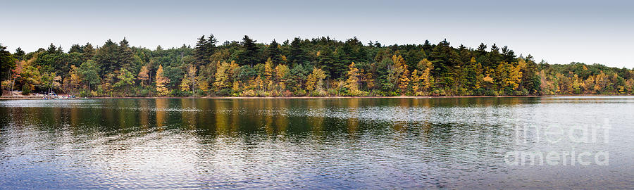 Americana Photograph - Walden Pond Panorama I by Thomas Marchessault