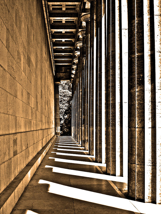 Europe Photograph - Walhalla Colonnade ... by Juergen Weiss