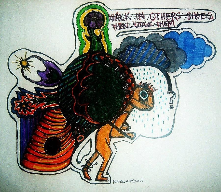 Walk In Others Shoes Drawing by Ragdoll Washburn