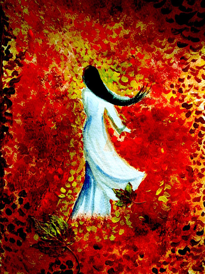 Walk On The Leaves Painting by Yen Pham