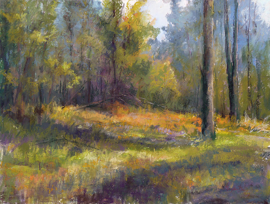 walk through the woods pastel by mary ann davis