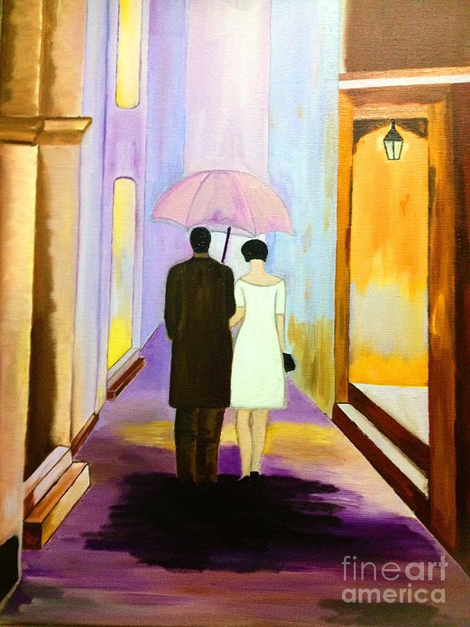 Walk With Me Painting by Cigdem Cigdem