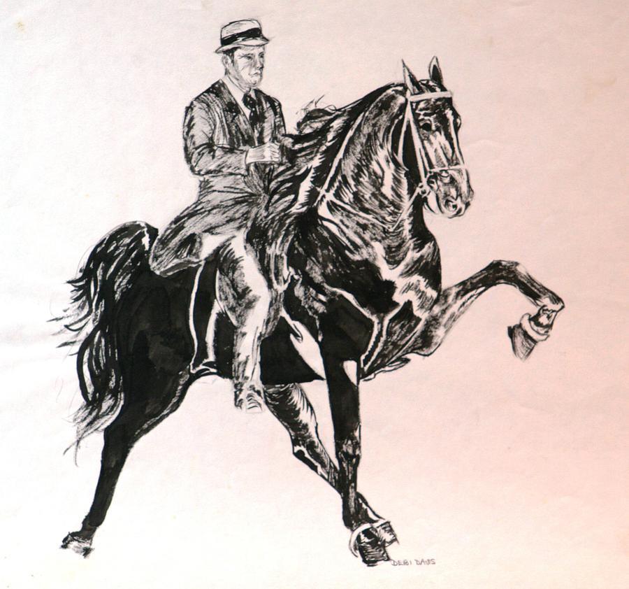 Horse Drawing - Walker by Debi Davis