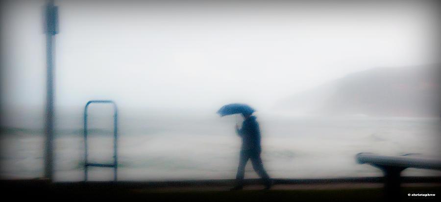Rain Photograph - Walking In The Rain by Christoph Mueller