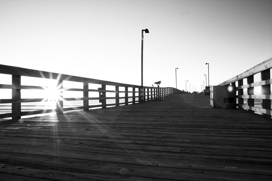 Jolly Photograph - Walking The Planks Sunrise by Betsy Knapp