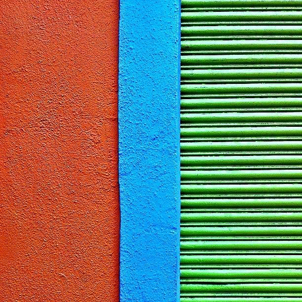 Color Block Photograph - Wall Stripes by Julie Gebhardt