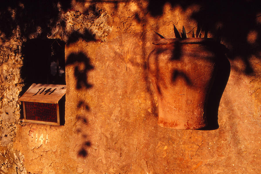 Urn Photograph - Wall Urn by Bob Whitt