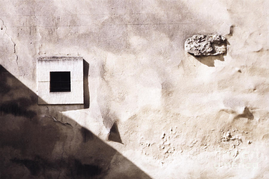 Architecture Photograph - Wall With Square Hole by Agnieszka Kubica