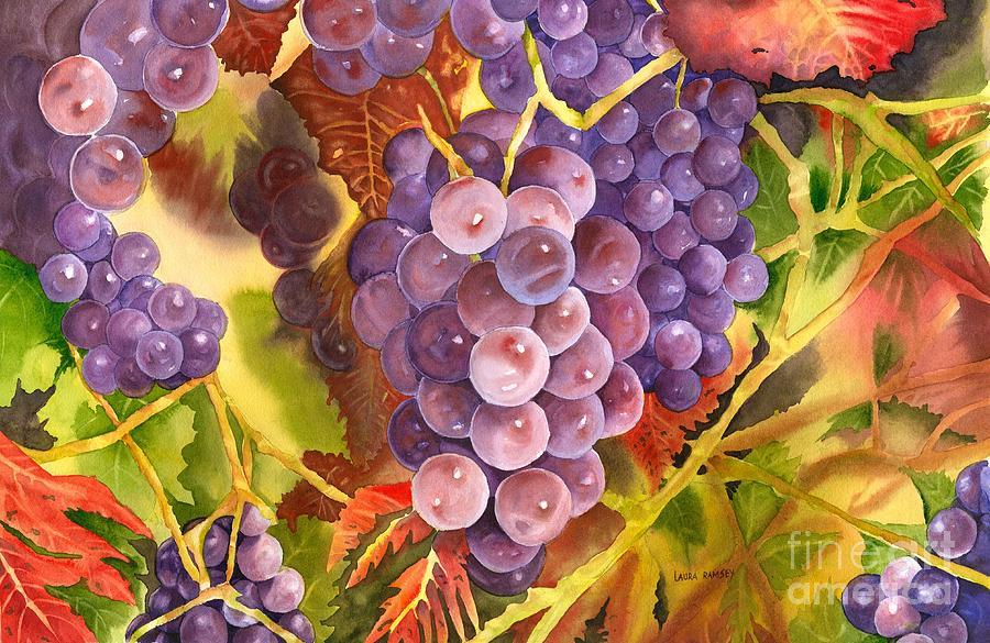 Walla Walla Vineyard Painting By Laura Ramsey