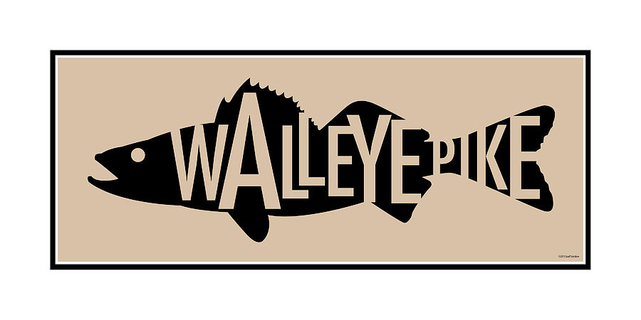 Walleye Digital Art - Walleye Pike by Geoff Strehlow