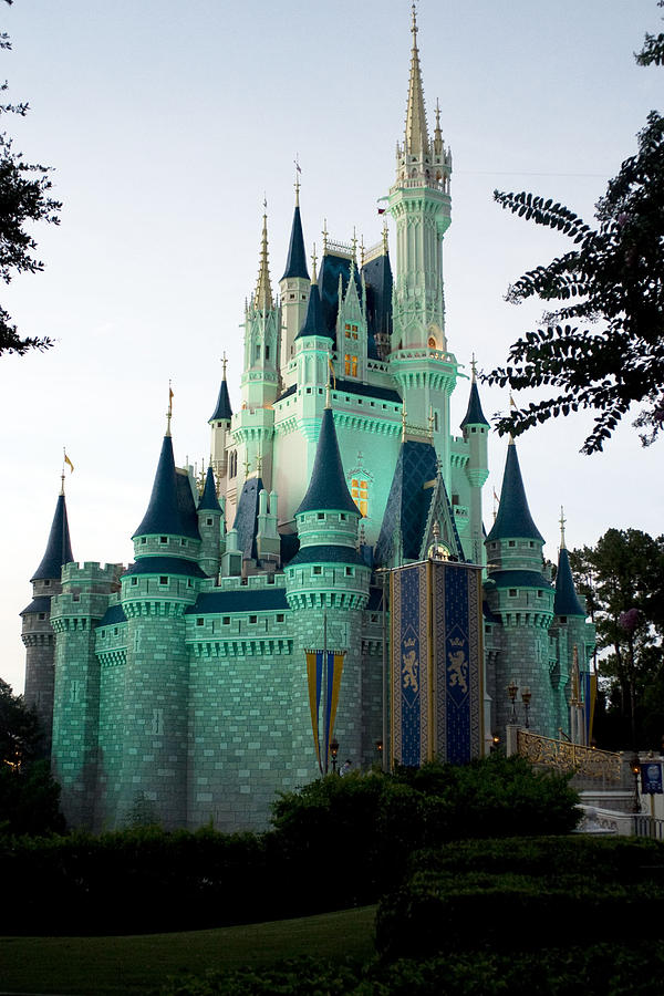 Walt Disney Photograph - Walt Disney Castle by Lisha Segur