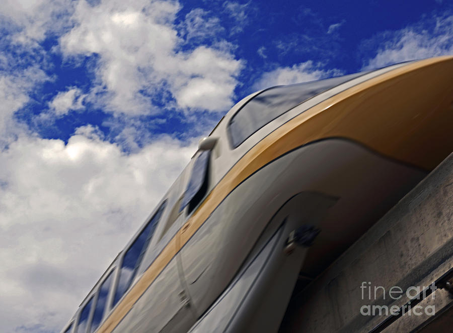 Walt Disney World - Monorail Yellow Pyrography by AK Photography