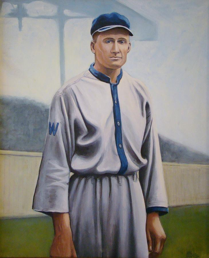 Senators Painting - Walter Johnson by Mark Haley