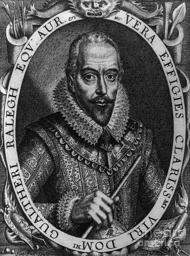 History Photograph - Walter Raleigh, English Courtier by Photo Researchers