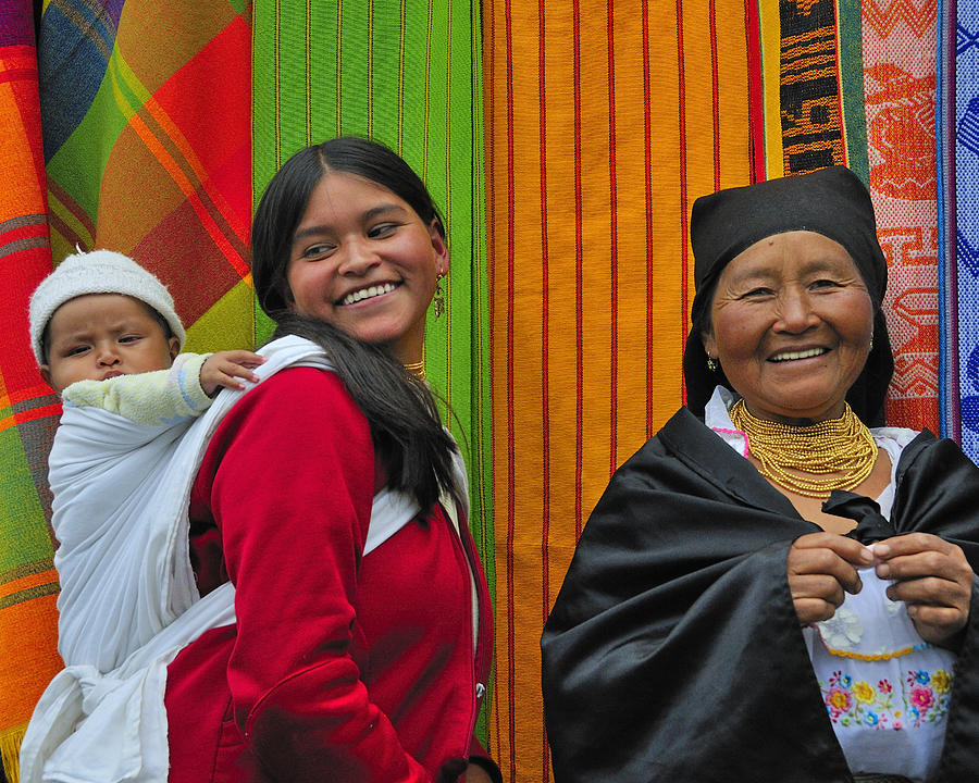 Otavalo Photograph - Wandering Through The Market by Tony Beck