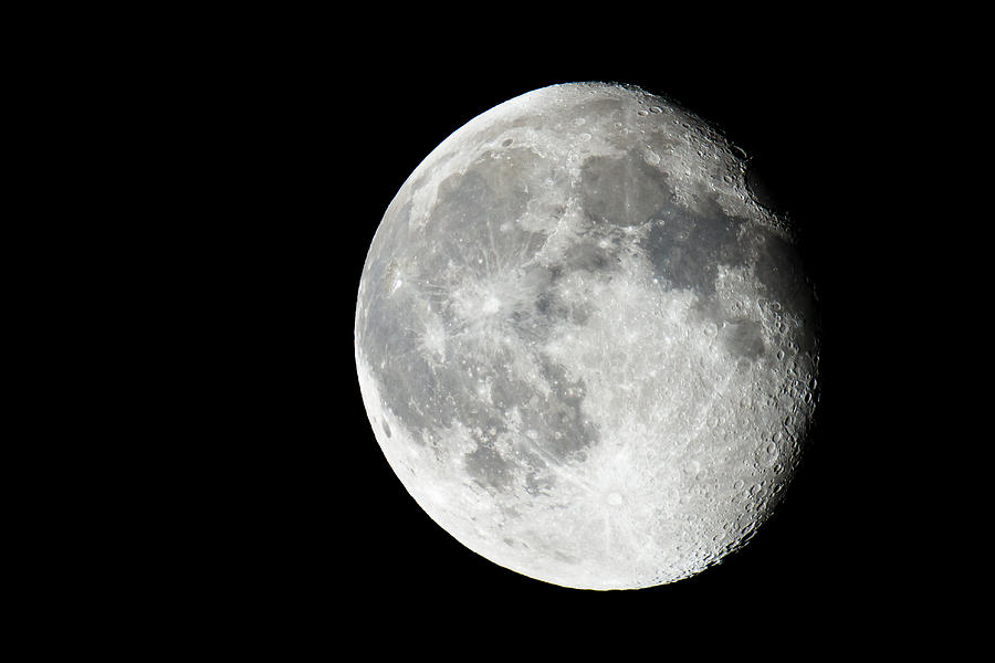 Moon Photograph - Waning Gibbous by Adam Pender
