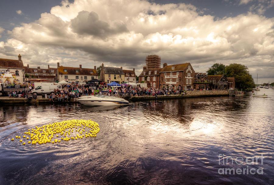 Wareham Photograph - Wareham Duck Race by Rob Hawkins